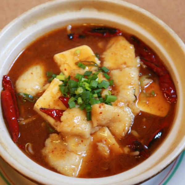 四川風白身魚煮込み鍋