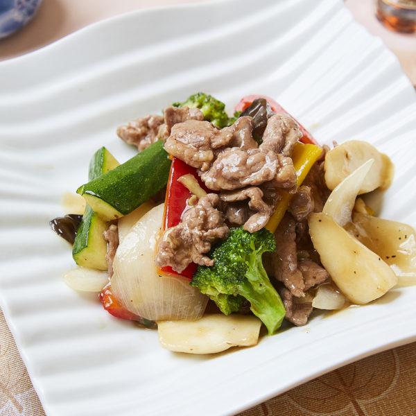 牛肉と野菜の柚子胡椒炒め