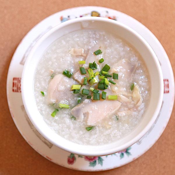 アワビ鶏肉粥